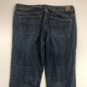 American Eagle Dark Wash Boy Fit Staight Jeans 8s
